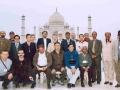 Delegates/Observers at the Taj Mahal during their tour to Agra on 20 January, 2005